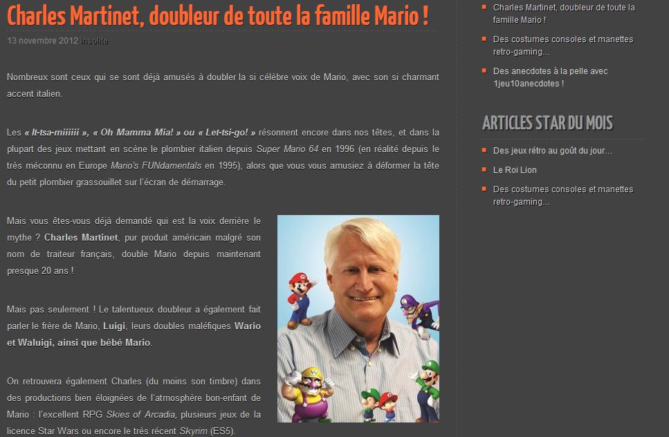 De nombreuses infos insolites et étonnantes sur Retro-Games.fr