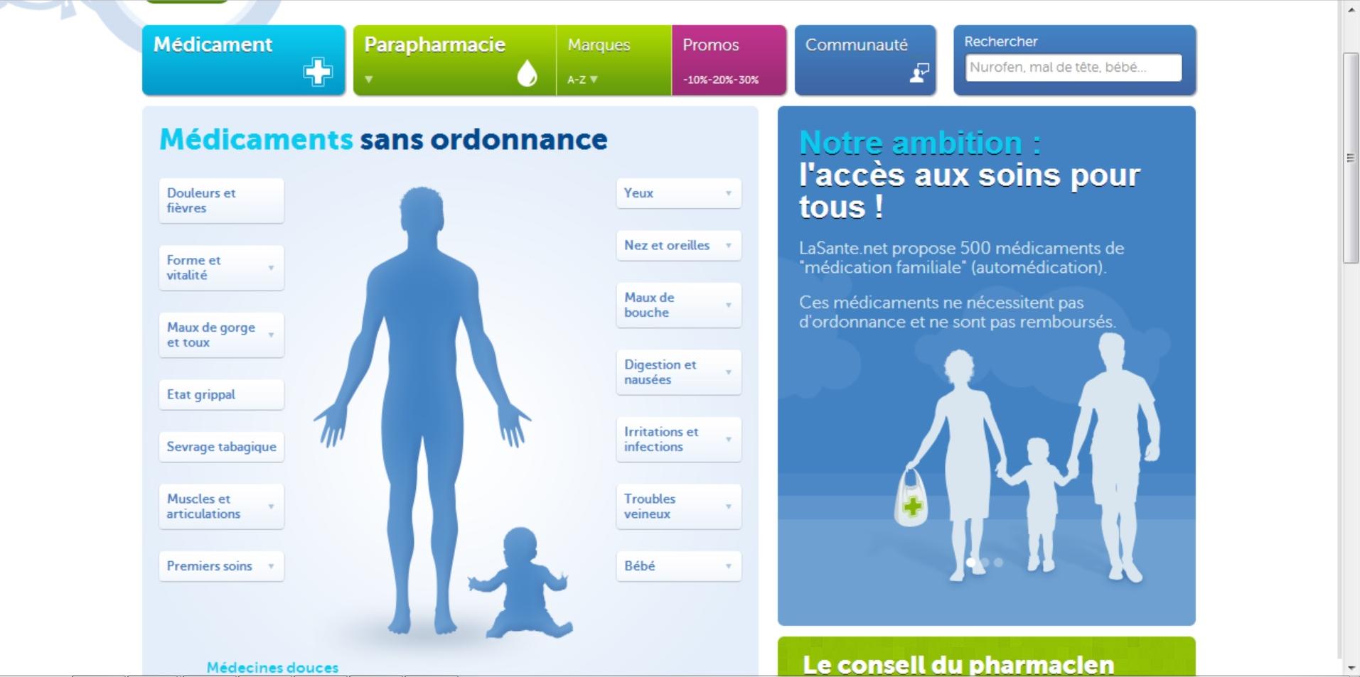 Parapharmacie et pharmacie en ligne : Optez pour LaSante.net