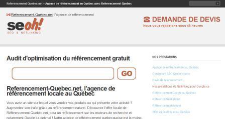 SEO Canadienne - référencement quebec.net