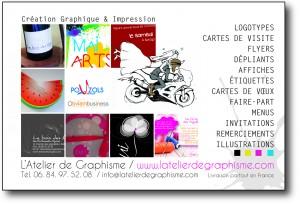 Logos, flyers, cartes de visite, faire-part de mariage.