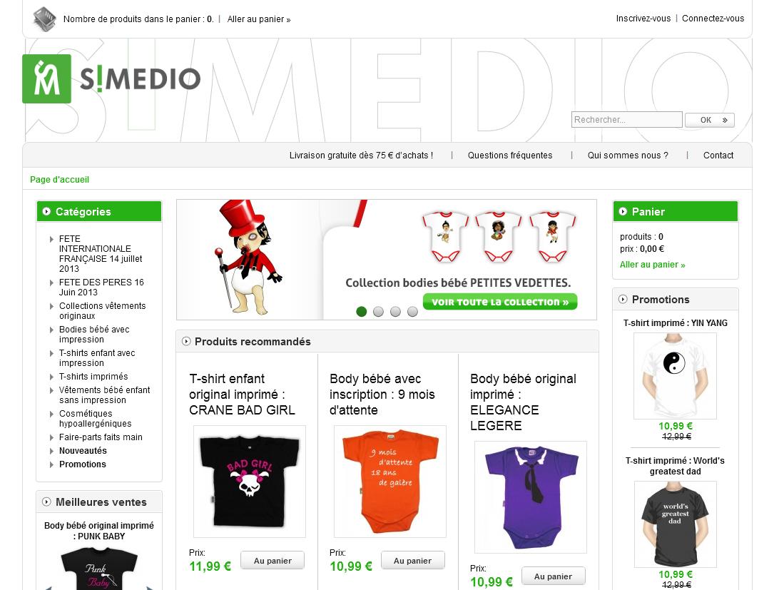 Page d'accueil SiMedio.fr
