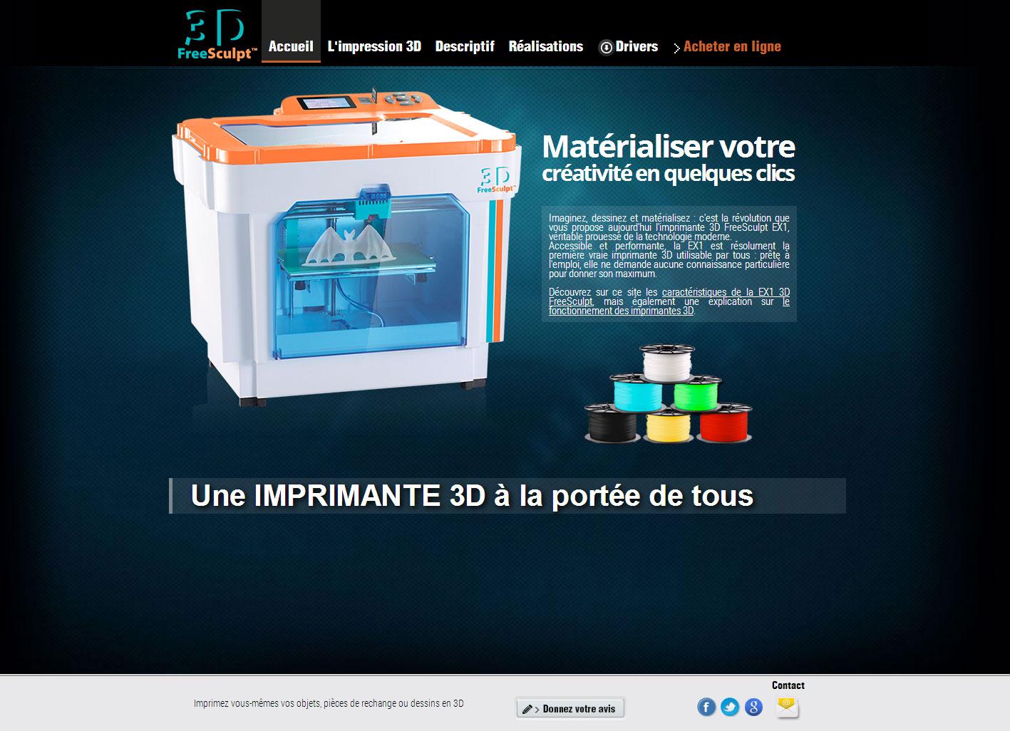 Home du site 3D FreeSculpt.fr