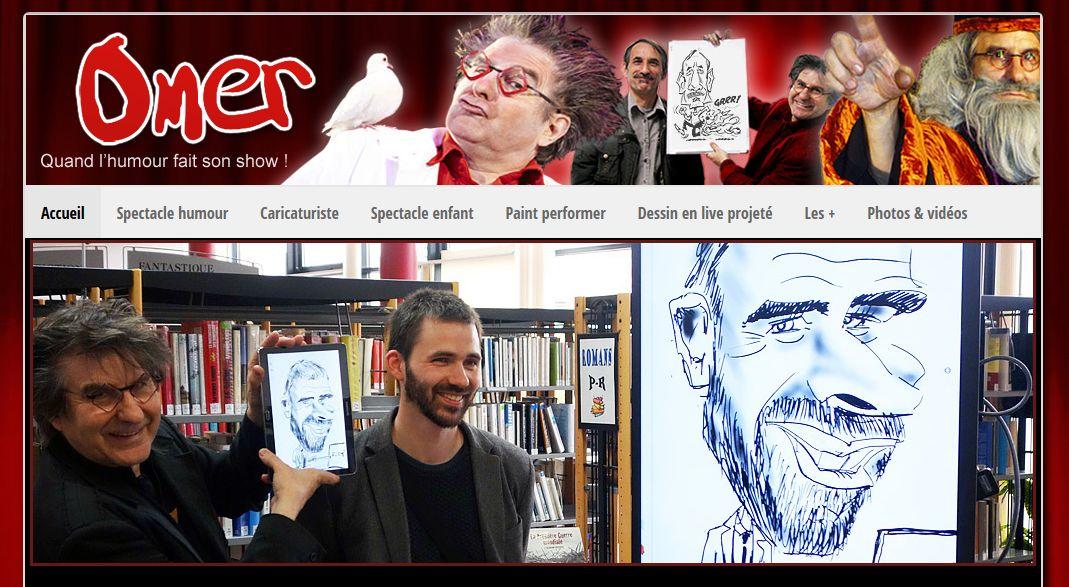 omer-show-caricaturiste