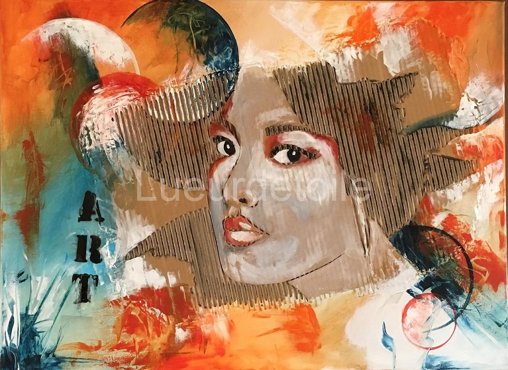 L'espagnole - peinture contemporaine figurative réalisée en technique mixte - 2016