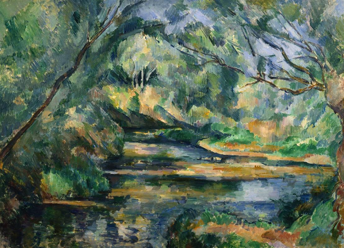 Paul Cézanne - Le ruisseau - 1898 - Post-impressionnisme