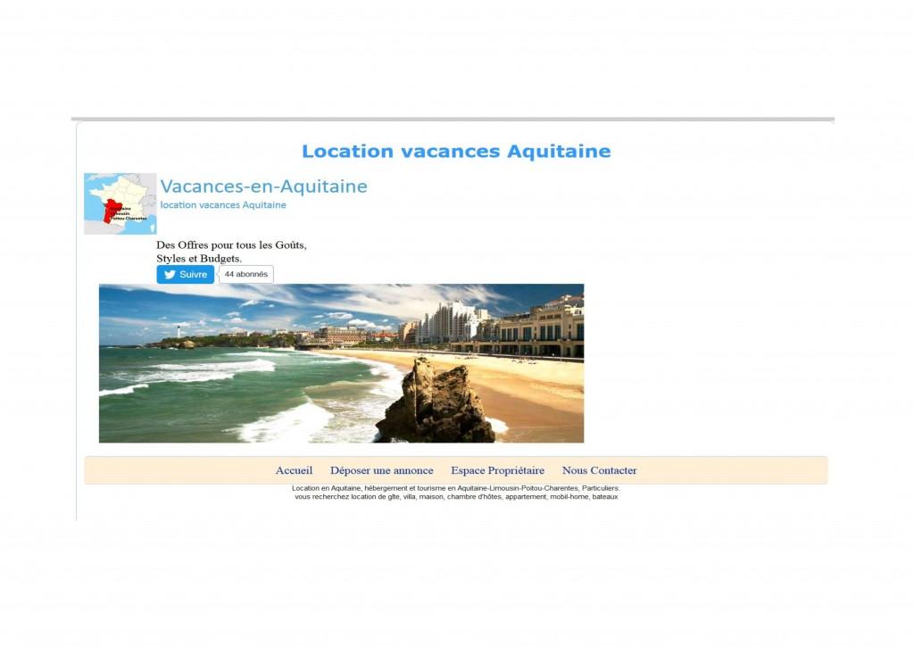 location vacance