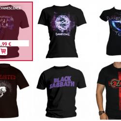 Achat T shirt metal