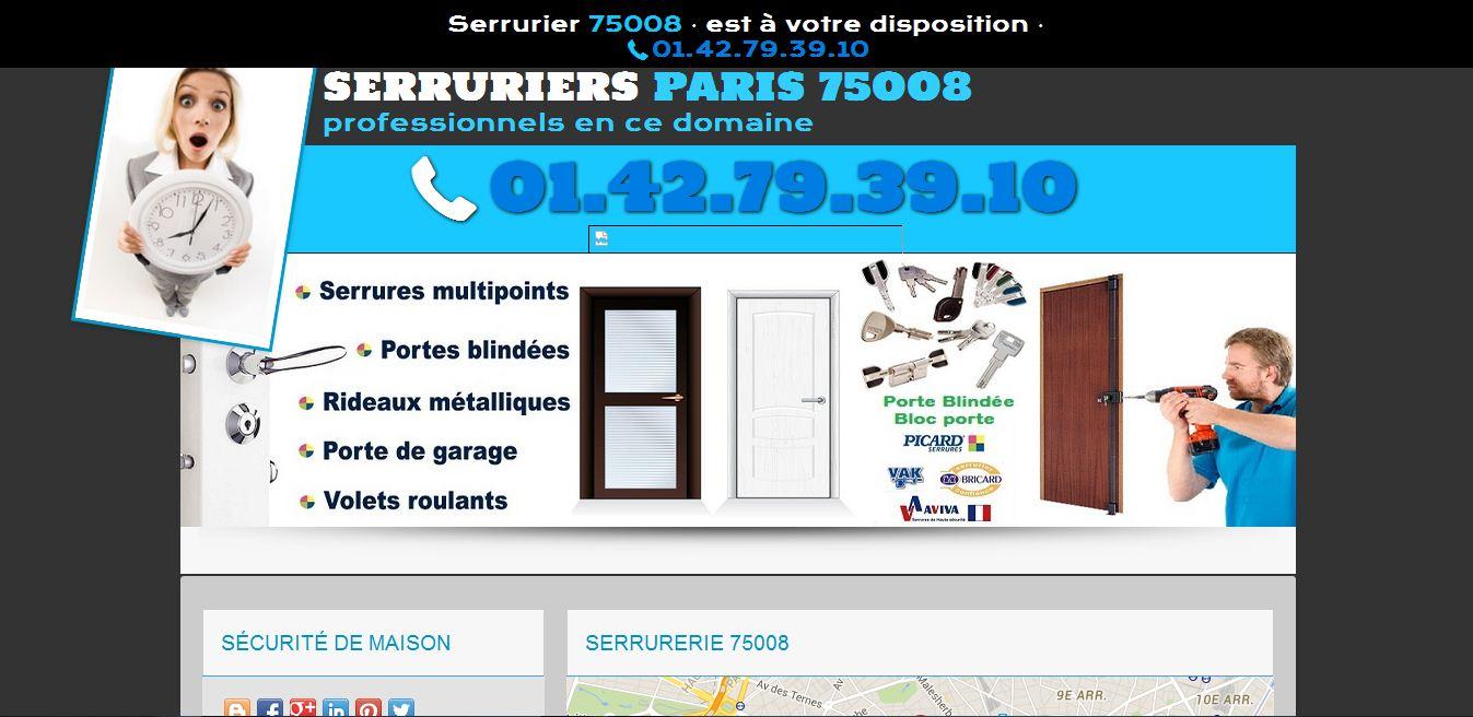 Serrurier75008fr service de serrurerie a paris for Serrurier 75008