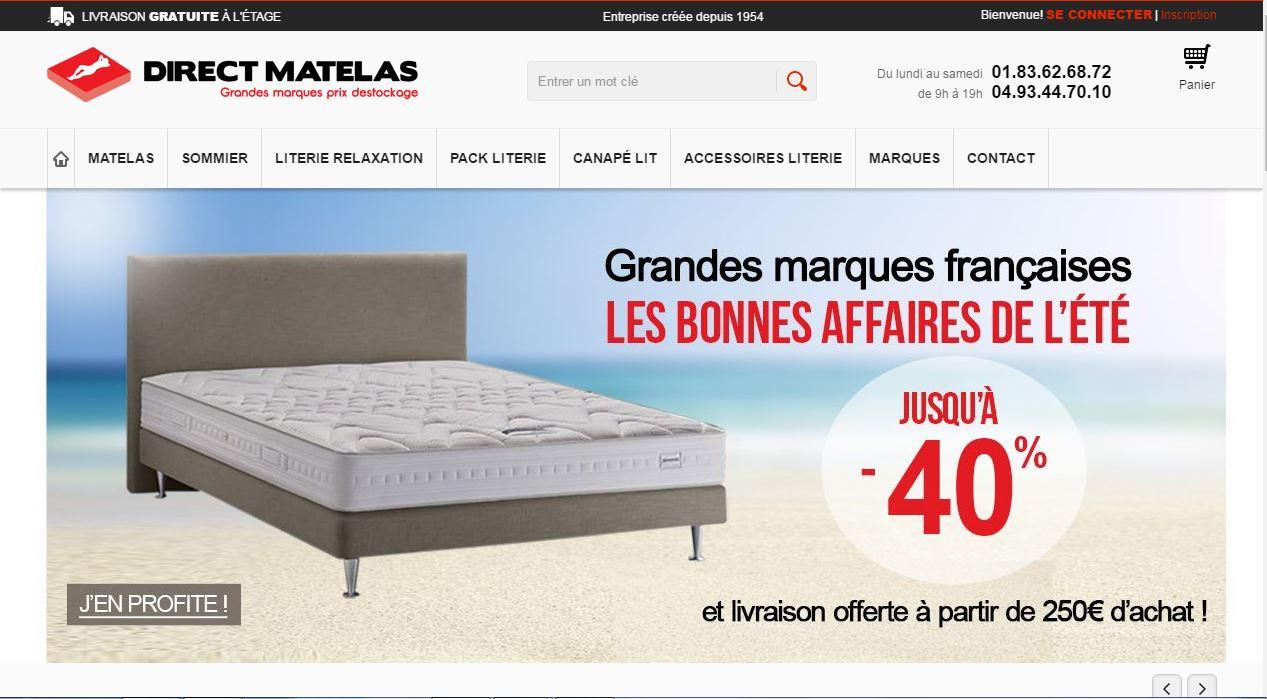 Direct matelas achat et vente de literie annuaire de site web de qualit - Achat literie en ligne ...