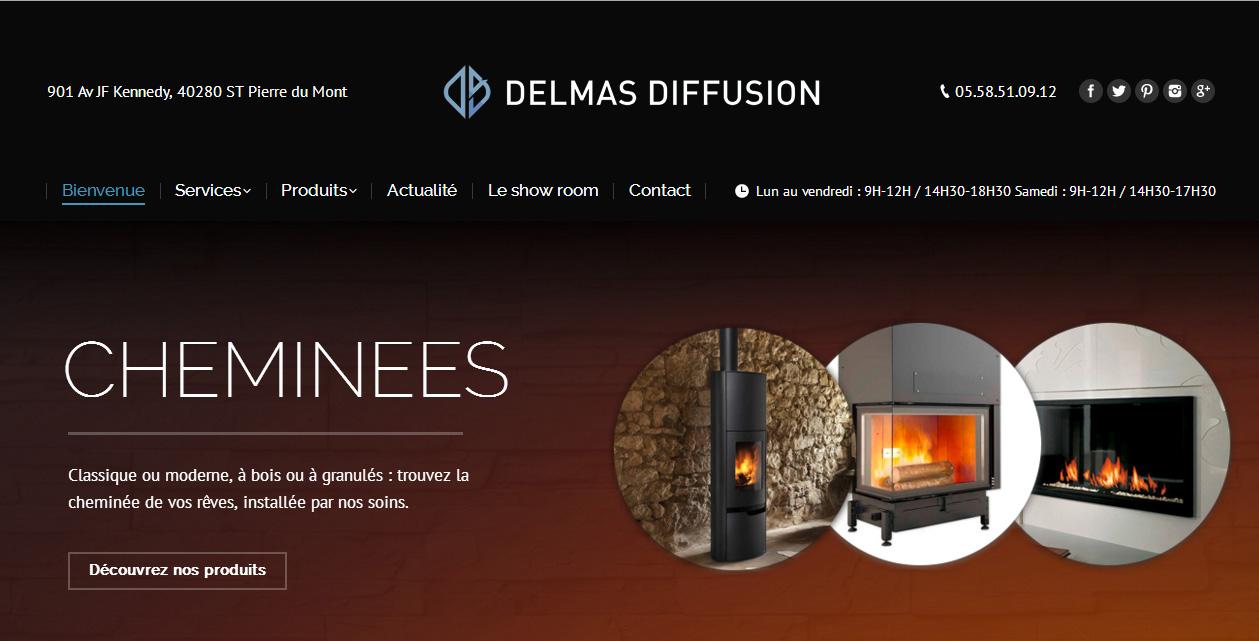 delmas diffusion sp cialiste chemin e et menuiserie. Black Bedroom Furniture Sets. Home Design Ideas